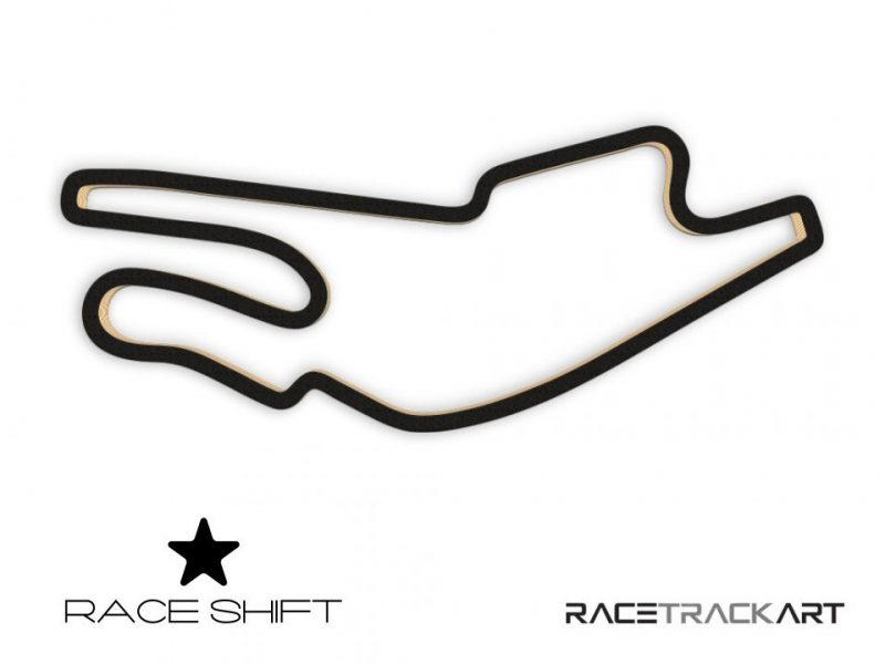 Race Shift Circuit Bugatti France 3D Track Art