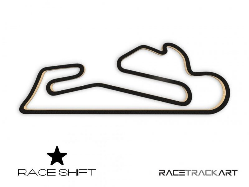 Race Shift Circuit Estoril Autodrome Portugal 3D Track Art