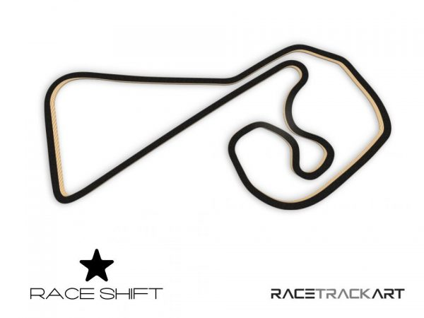 Race Shift Circuit Sachsenring Germany 3D Track Art