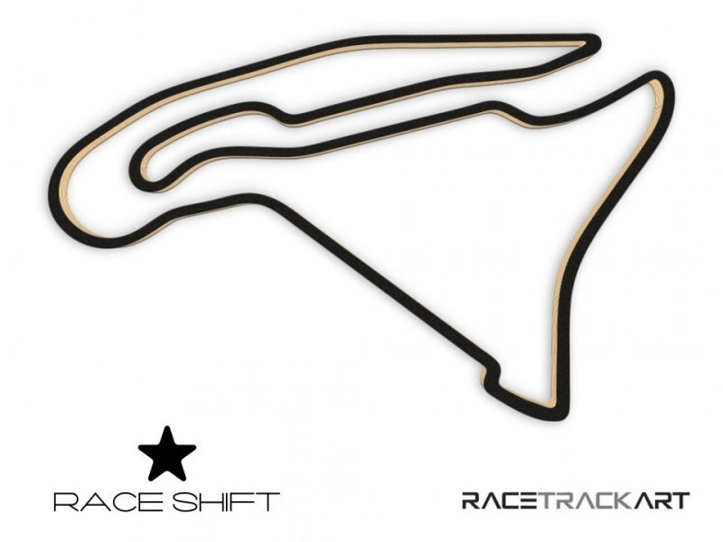 Race Shift Circuit de Nevers Magny Cours France 3D Track Art